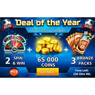 ایونت Deal of the Year (شامل ۳ برنزپک، ۲ اسپین و ۶۵ هزار سکه)