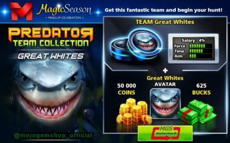 ایونت Predator (شامل ۶۲۵ دلار، مهره کوسه، آواتار کوسه و ۵۰ هزار سکه)