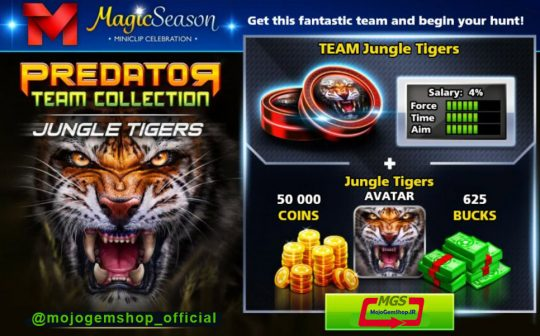 ایونت Predator (شامل ۶۲۵ دلار، مهره ببر، آواتار ببر و ۵۰ هزار سکه)