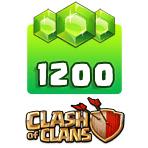 بسته ۱۲۰۰ تایی جم Clash of Clans
