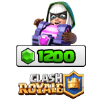 بسته ۱۲۰۰ تایی جم Clash Royale