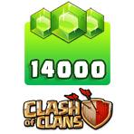 بسته ۱۴۰۰۰ تایی جم Clash of Clans