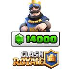 بسته ۱۴۰۰۰ تایی جم Clash Royale