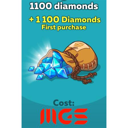 خرید ۱۱۰۰ الماس بازی Hustle Castle