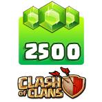بسته ۲۵۰۰ تایی جم Clash of Clans