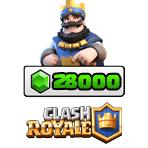 بسته ۲۸۰۰۰ تایی جم Clash Royale