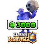 بسته ۳۰۰۰ تایی جم Clash Royale