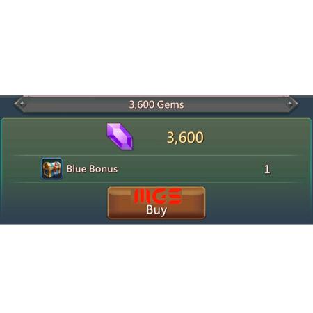 خرید ۳۶۰۰ جم بازی Lords Mobile