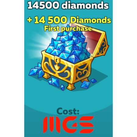 خرید ۱۴۵۰۰ الماس بازی Hustle Castle
