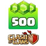 بسته ۵۰۰ تایی جم Clash of Clans