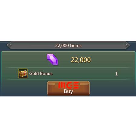 خرید ۲۲۰۰۰ جم بازی Lords Mobile