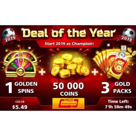 ایونت Deal of the Year (شامل ۳ گلدپک، ۱ اسپین و ۵۰ هزار سکه)