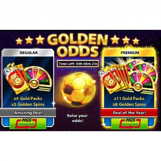 ایونت Golden ODDS (شامل ۱۱ گلد پک و ۸ گلدن اسپین )