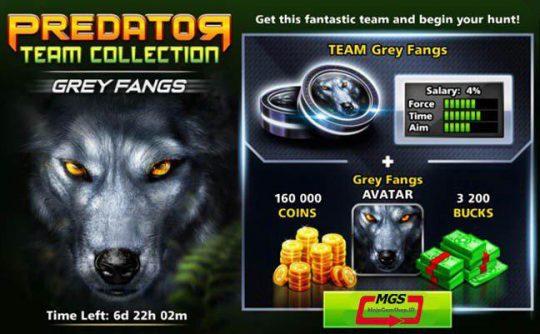 ایونت Predator (شامل ۳۲۰۰ دلار، مهره گرگ، آواتار گرگ و ۱۶۰ هزار سکه)