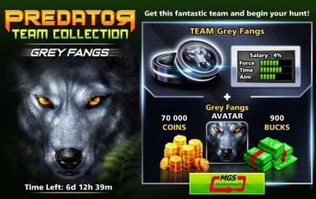 ایونت Predator (شامل ۹۰۰ دلار، مهره گرگ، آواتار گرگ و ۷۰ هزار سکه)
