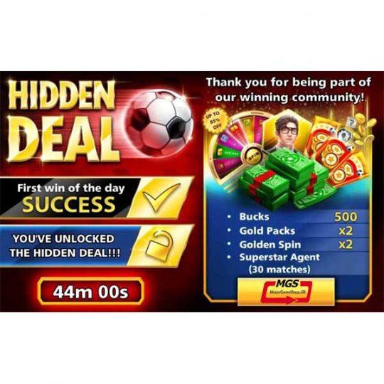 ایونت Hidden (شامل ۵۰۰ دلار،۲ پک طلایی، ۳۰ مربی سوپراستارز و ۲ گلدن اسپین)