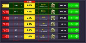 دلار بازی Ball Pool 8 (بسته ۴)