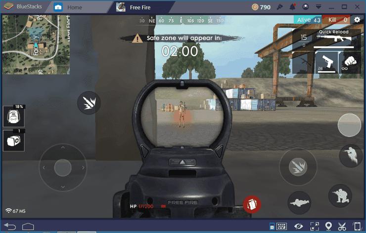 دوربین های بازی free fire