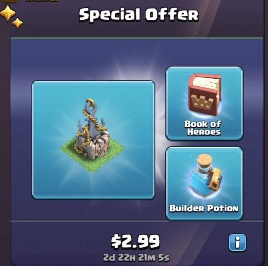 ایونت Special Offer بازی کلش اف کلنز 2.99