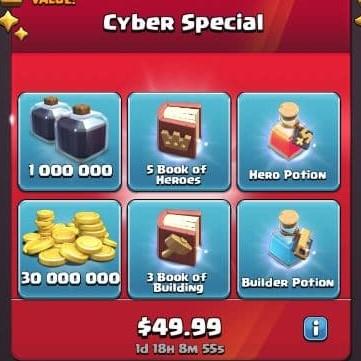 ایونت 49.99 دلاری Cyber Special بازی کلش اف کلنز
