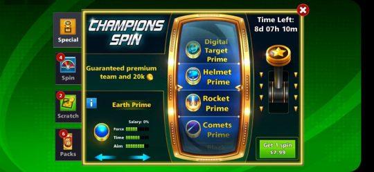 دسته قرعه کشی Champio Spin