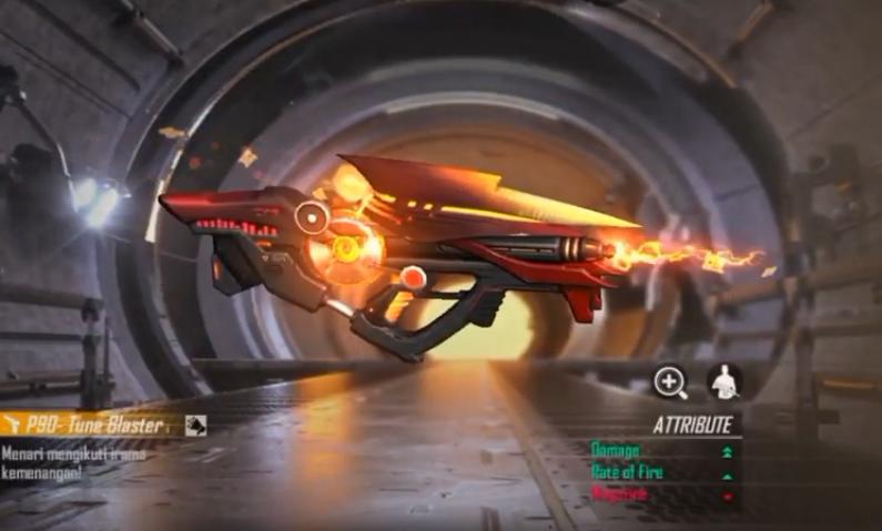 اسلحه Tune Blaster P90 فری فایر