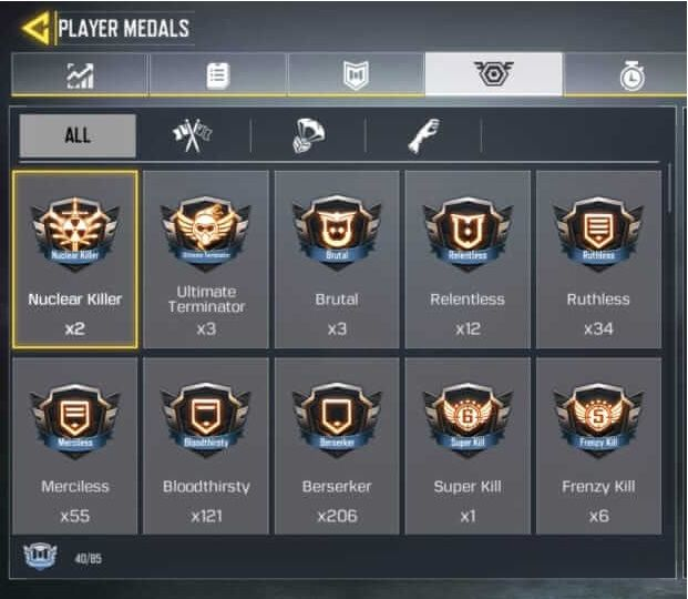 مدال های کال آف دیوتی موبایل