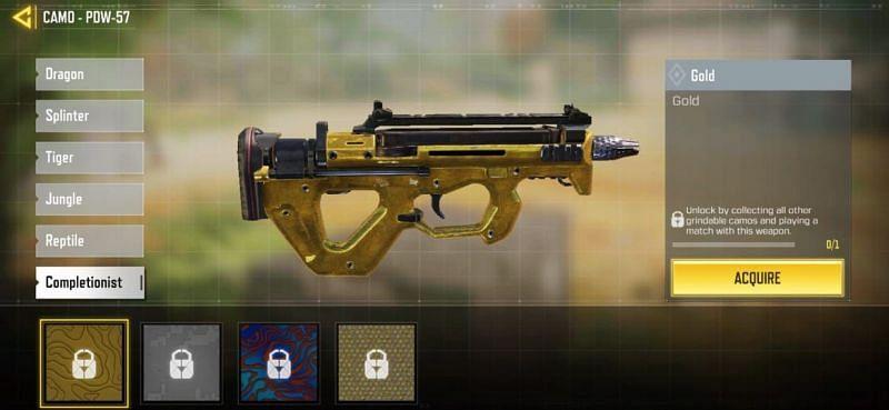اسلحه Gold Camo فصل 13 کال آف دیوتی موبایل