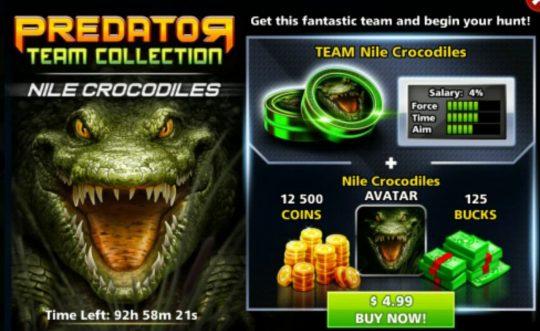 ایونت predator primal crocodile (شامل: چوب و آواتار کروکودیل،125 دلار، 125۰۰سکه)