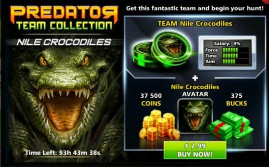 ایونت predator primal crocodile (شامل: آواتار کروکودیل،375 دلار، 375۰۰سکه)