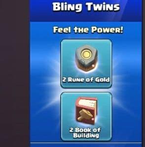 ایونت Bling Twins بازی کلش اف کلنز