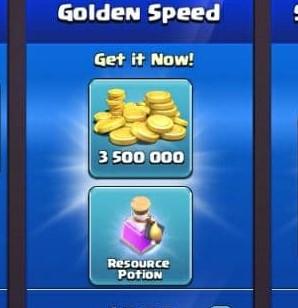 ایونت Golden Speed بازی کلش اف کلنز