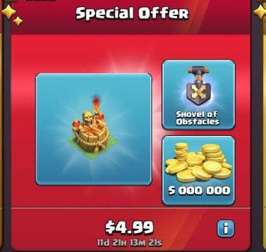 ایونت Special Offer 5.99 دلاری بازی کلش اف کلنز
