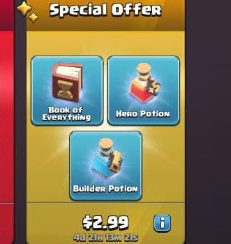 ایونت Special Offer 2.99 دلاری بازی کلش اف کلنز