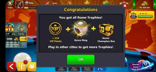 انگشتر رم 8 بال پول + حداقل 30 میلیون سکه