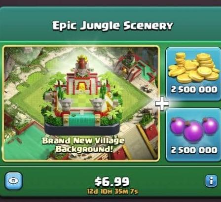 ایونت 6.99 دلاری Epic Jungle Scenery کلش اف کلنز