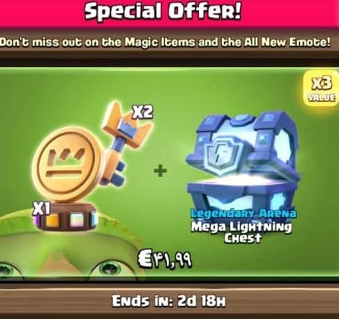 ایونت 41.99 دلاری Special Offer کلش رویال