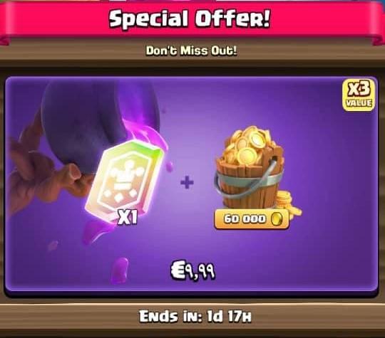 ایونت 9.99 دلاری Special Offer کلش رویال