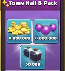 ایونت Town Hall 8 Pack بازی کلش اف کلنز