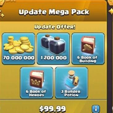 ایونت 99.99 دلاری Update Mega Pack کلش اف کلنز