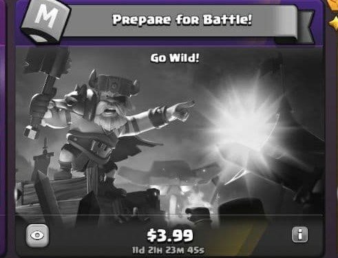 ایونت 3.99 دلاری Prepare for Battle کلش اف کلنز