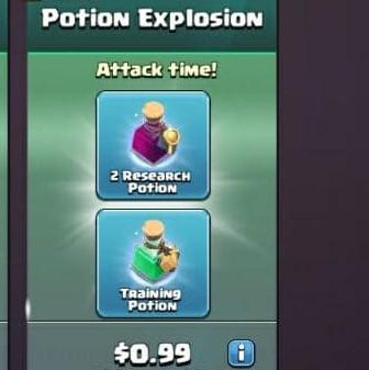 ایونت 0.99 دلاری Potion Explosion کلش اف کلنز
