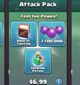 ایونت 6.99 دلاری Attack Pack کلش اف کلنز