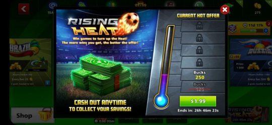 ایونت 1.99 دلاری Rising Heat ساکر استارز