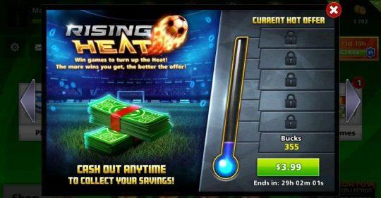ایونت 3.99 دلاری Rising Heat ساکر استارز
